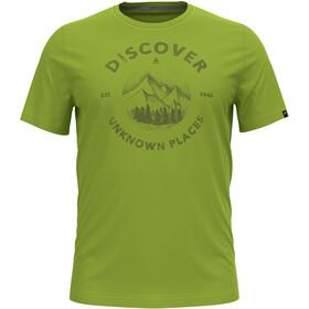 Odlo Nikko Print T-Shirt S / S Crew Neck Herrer, grøn